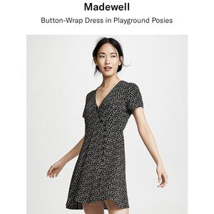 Madewell Button Wrap Dress in Playground Poises
